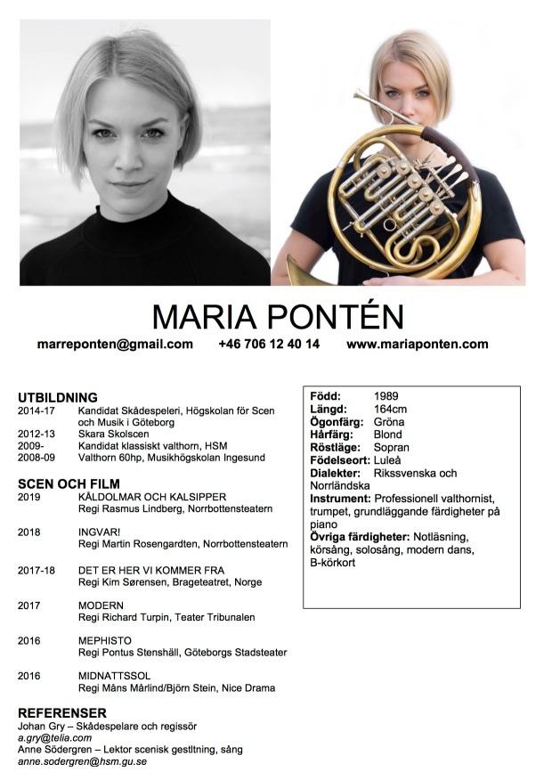 Marias Cv 2019 bild