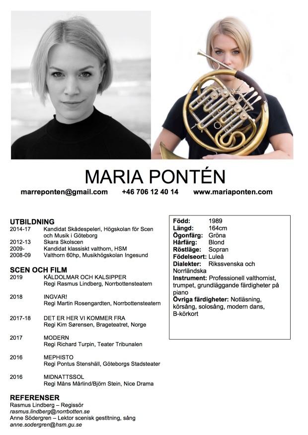Marias Cv 2019 vt bild